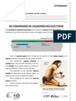Atividades 01 - AS COMUNIDADES DE CAÇADORES-RECOLECTORES