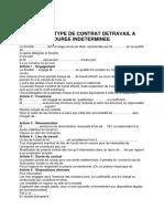 Modele de Contrat CDI