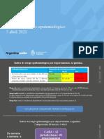 Evaluación riesgo epidemiológico 3 abril 2021