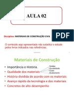 Aula2_2020_ Materiais de Construção