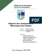 Rapport des Manipulations MecaFluides Justin 2021
