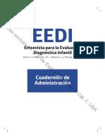 Castro Solano, A. y Fernández Liporace, M. M. (Eds.) (2017). La evaluación psicológica en niños.- Anexo EEDI. Cuadernillo de Administración