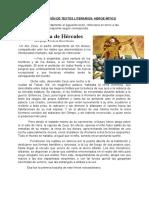 COMPRENSIÓN DE TEXTOS LITERARIOS_ HÉROE MÍTICO