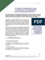 CLASE 1 - CONDICIONES PARA EL DESARROLLO DEL TALENTO INNOVADOR