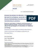 Ensino de Moda No Brasil Com Ênfase