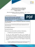 Guia de actividades y Rúbrica de evaluación - Unidad 2 - Fase 3 - Análisis de problemas de balance de materia