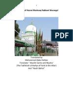 Biography of Hazrat Mashooq Rabbani Warangal