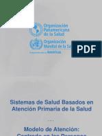 Sistemas de salud basados en APS - Presentación - OPS