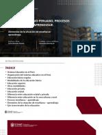 Sesion 4 Sistema Educativo Peruano, Procesos de Enseñanza y Aprendizaje