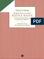 2013_Baronesa dandy reina dadá. La vida-obra de Elsa von Freytag-Loringhoven-gloriagduran