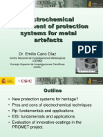 Cano, E. Electrochemical Protection System Mtal Artefacts. 2010