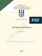 Liturgică Generală (Anul III, Sem. i)