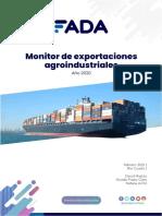 Monitor de Exportaciones Agroindustriales. Año 2020.