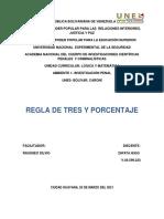Hugo Zapata REGLA DE TRES Y PORCENTAJE