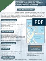 FDOT flyer of S.S. Jolley bridge repairs on Marco Island - 2021