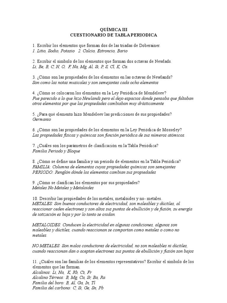 Qumica iii cuestionario de tabla periodica contestado urtaz Image collections