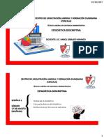ESTADÍSTICA DESCRIPTIVA MIÉRCOLES 2017 II CLASES 1 Y 2