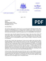 Letter to Sheriff Bilal From City Council