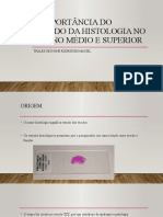 A Importância Do Estudo Da Histologia No Ensino