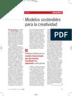 Modelos Sostenibles Para La Creatividad