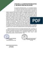 Acta de Capacitacion a La Institucion Educativa - Salas