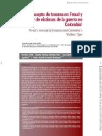 El concepto de Trauma en Freud aplicado a las víctimas de guerra en Colombia