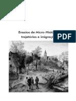 Ensaios de Micro-historia 2016.