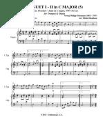 5. Minuets I and II (Score, Trumpet Part) - Ouverture-Suite, TWV 55:C1 (Telemann) 2