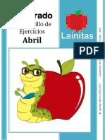 1ero ?♾️ Abril Cuadernillo de Ejercicios (abril) ?♾️