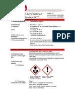 HOJA de SEGURIDAD Clorfeniramina Maleato