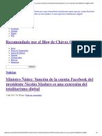 Ministro Ñáñez_ Sanción de La Cuenta Facebook Del Presidente Nicolás Maduro Es Una Expresión Del Totalitarismo Digital _ PSUV