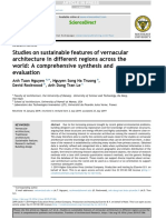 Studies on Sustainable Features of Vernacular Architectures accros the world