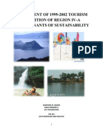 ASSESSMENT OF 1999-2002 TOURISM CONDITION OF REGION IV-A  DETERMINANTS OF SUSTAINABILITY