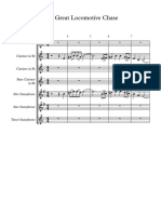 The Great Locomotive Chase Clarinet-Saxophone - Score and parts