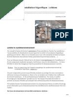 Energieplus-lesite.be-concevoir Une Installation Frigorifique Critères Généraux