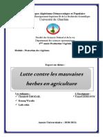 Exposé sur Lutte contre les mauvaises herbes en agriculture