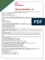 raciocínio lógico - QUESTÕES DE REVISÃO 05