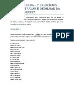PDF - Mão esquerda - 7 exercícios