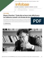 """Roger Chartier_ """"la tiranía de los algoritmos"""" 2020- Infobae"""