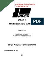 Turbo Arrow IV Manual POH