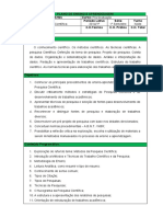 Plano de Aula - Metodologia Científica