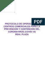 P-Protocolo de Operación de C.C Para La Prevención y Contención Del COVID-19 V09