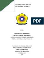 PVC (Polivinil Klorida ) (Makalah Kelompok 5 Pengetahuan Bahan)