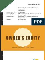 Week 7 - Owner's Equity