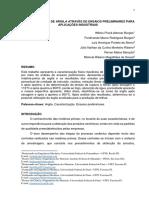 CARACTERIZAÇÃO DE ARGILA ATRAVÉS DE ENSAIOS PRELIMINARES PARA APLICAÇÕES INDUSTRIAIS