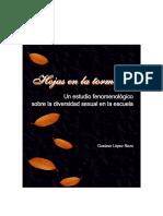 2005. López Rozo. Hojas en la tormenta. Un estudio fenomenológico sobre la diversidad sexual en la escuela.