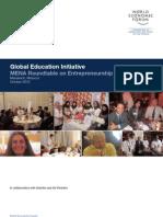 Global Education Initiative MENA Roundtable on Entrepreneurship Education
