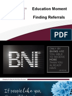BNI Networking Education - Finding Referrals