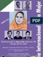 Cartel del Acto de AMSE- Día internacional de las mujeres 9 marzo 2011