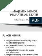 Manajemen Memori Pemartisian Statis